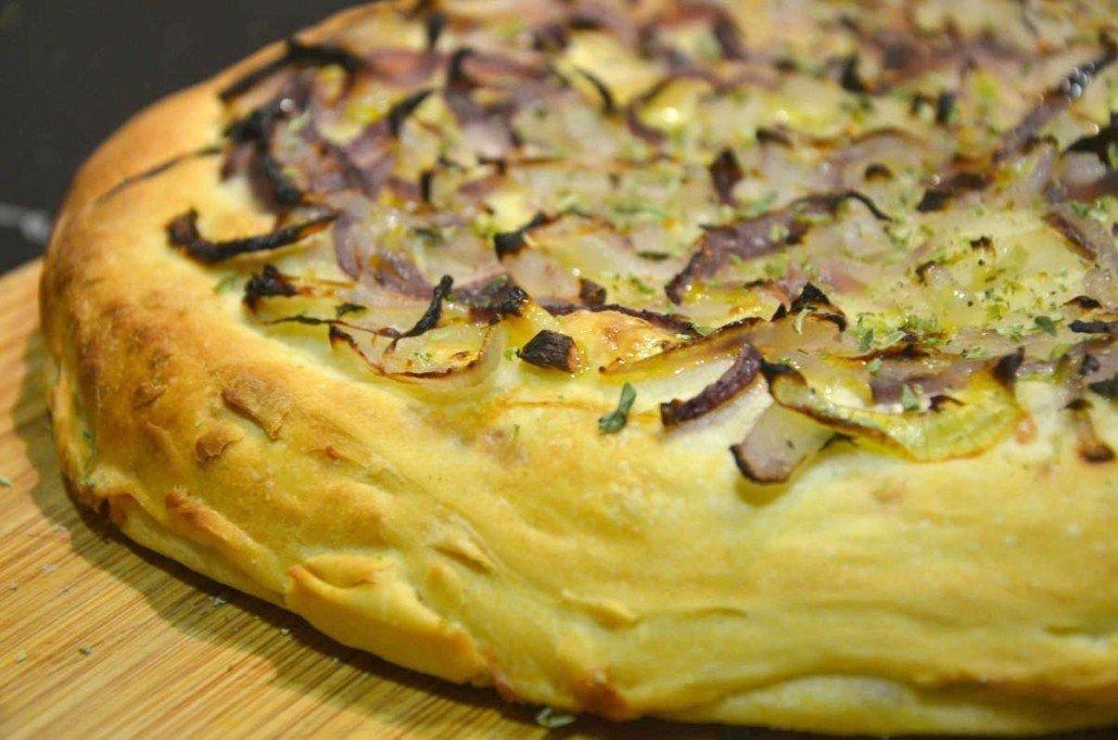Receta Casera De Pizza Fugazzeta Rellena Pizza Argentina
