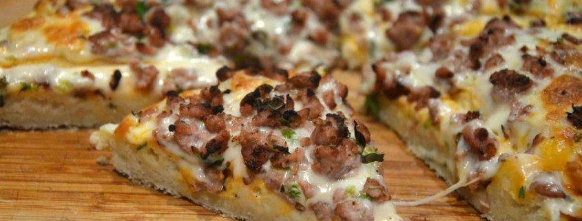 Pizza de carne picada